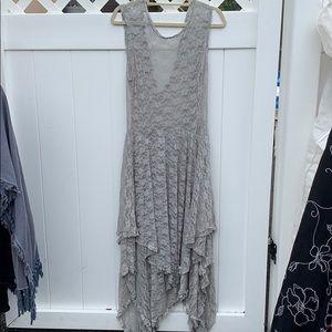 Lace Grey Free People Dress